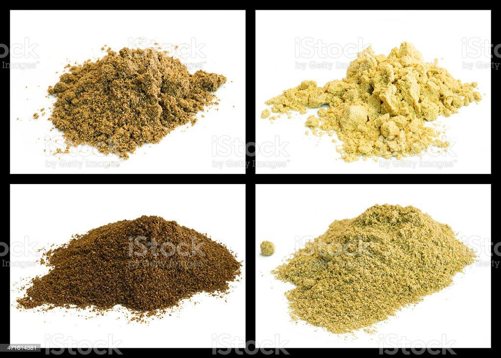 mustard, coriander, fennel, celery royalty-free stock photo