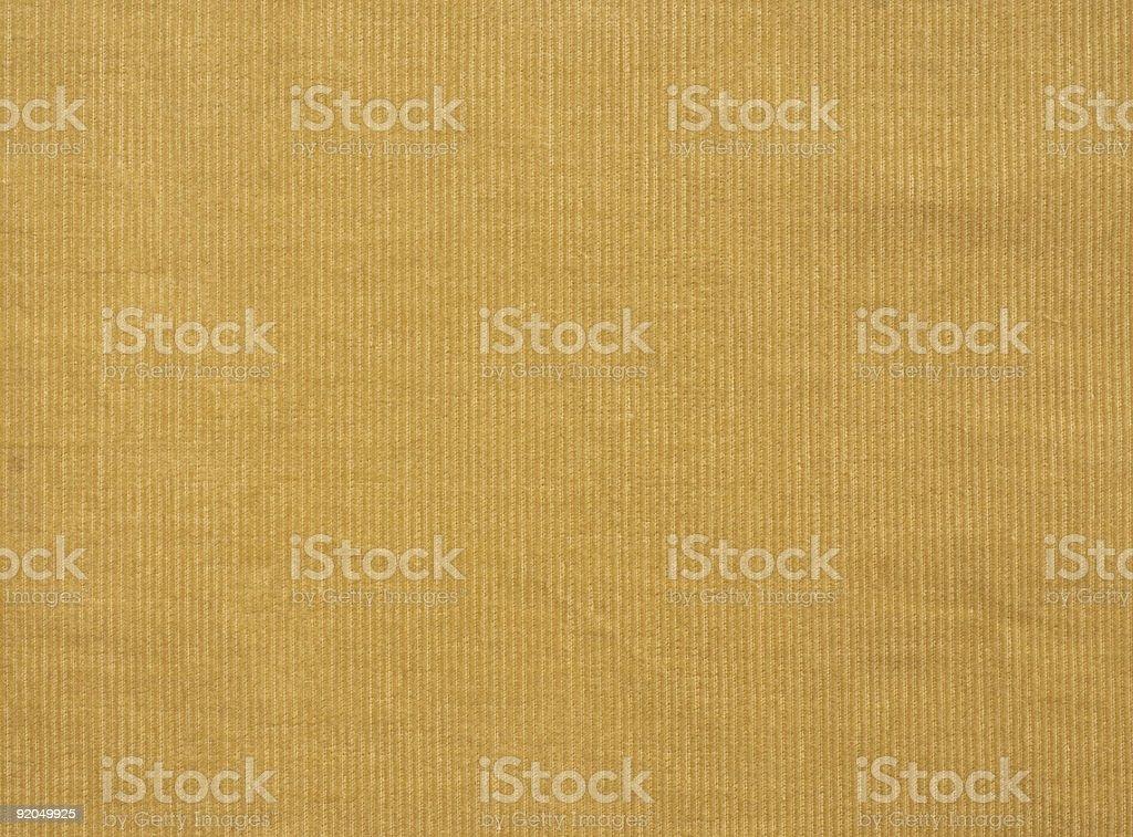 Mustard fine textured corduroy fabric stock photo