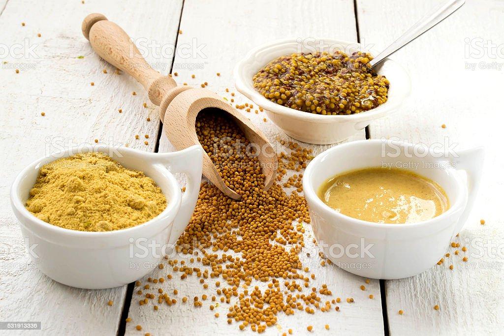 Mustard in the assortment stock photo