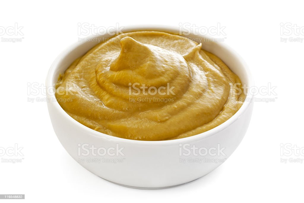 Mustard (with Path) stock photo