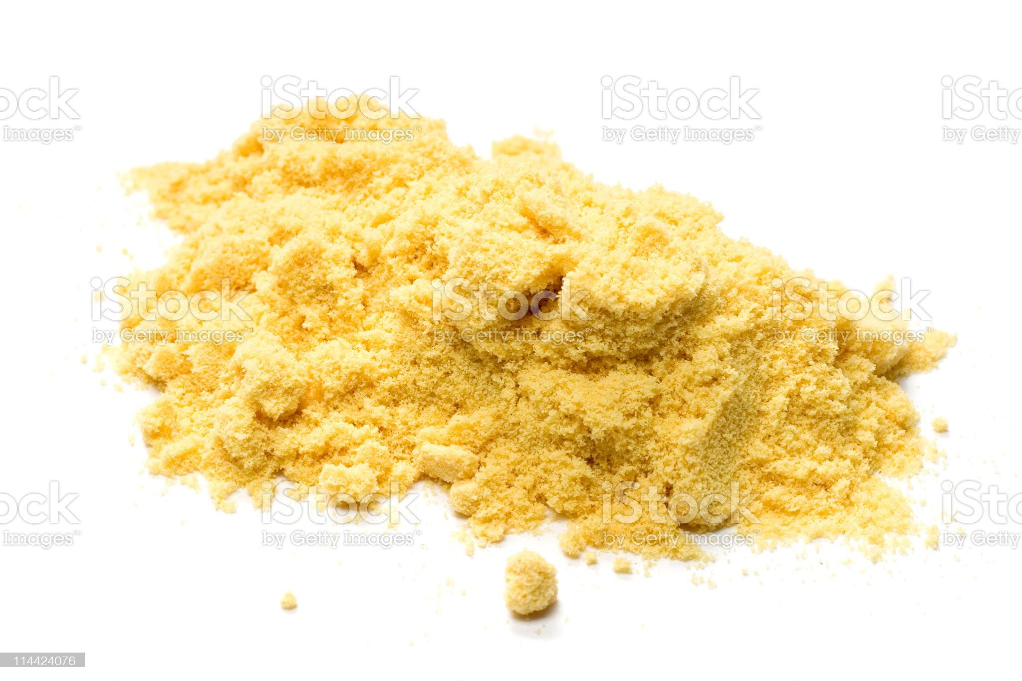 Mustard powder on a white background royalty-free stock photo