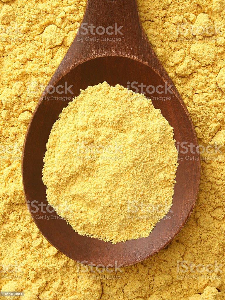 Mustard powder royalty-free stock photo
