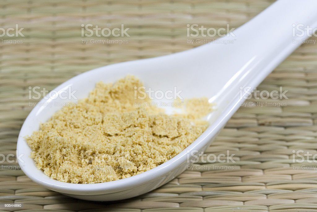 mustard powder stock photo