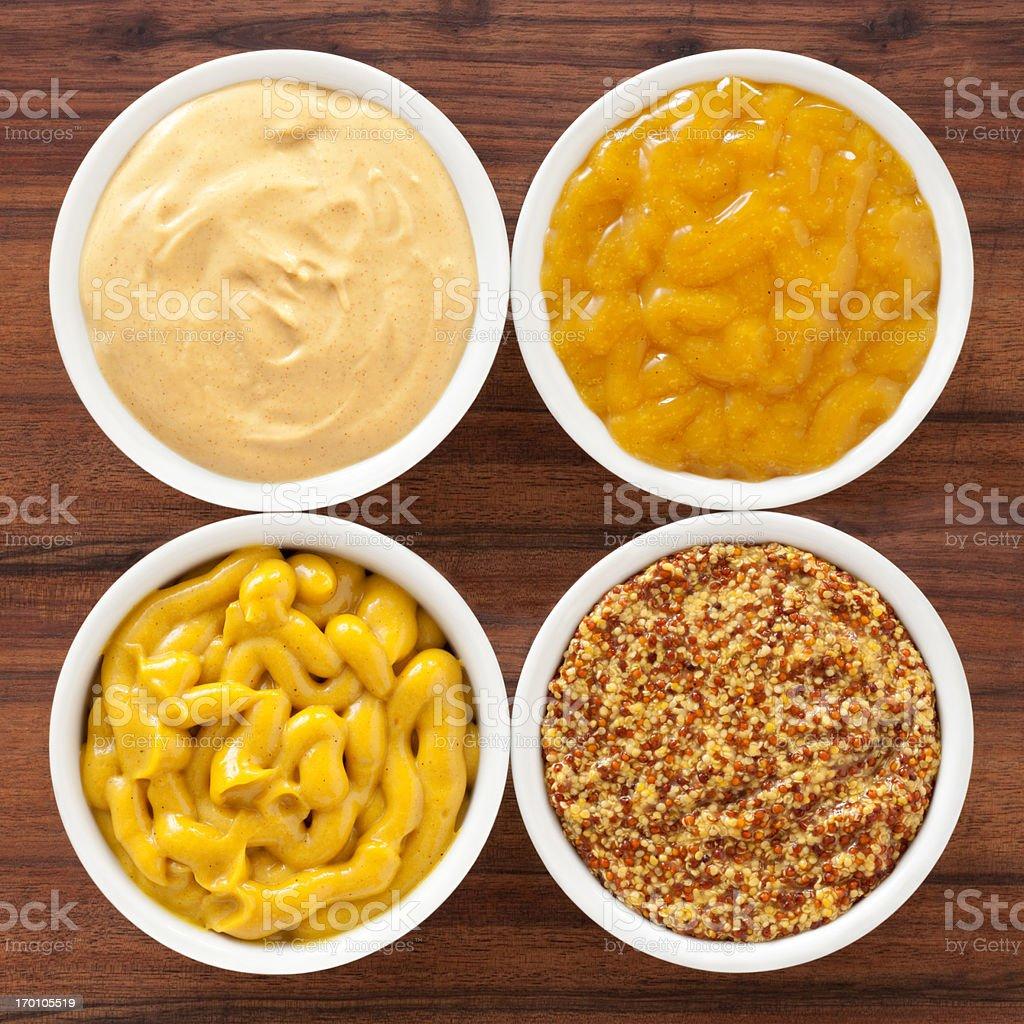 Mustard varieties stock photo