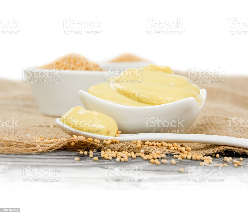 Mustard with Seeds stock photo