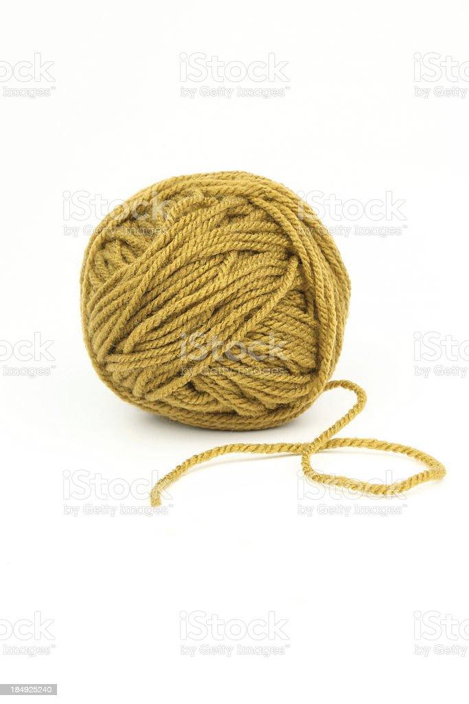 Mustard wool royalty-free stock photo