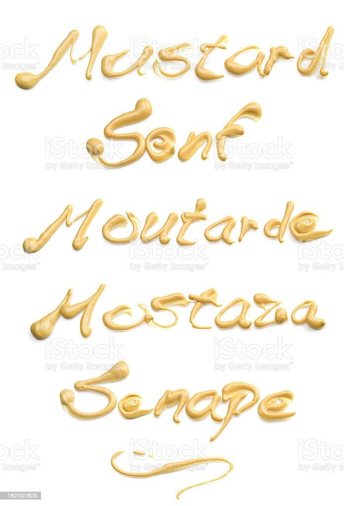 Mustard XXXL royalty-free stock photo