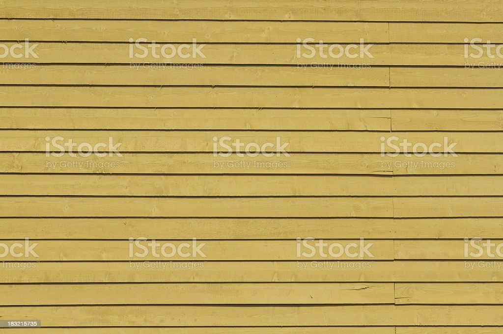 mustard yellow wooden siding royalty-free stock photo