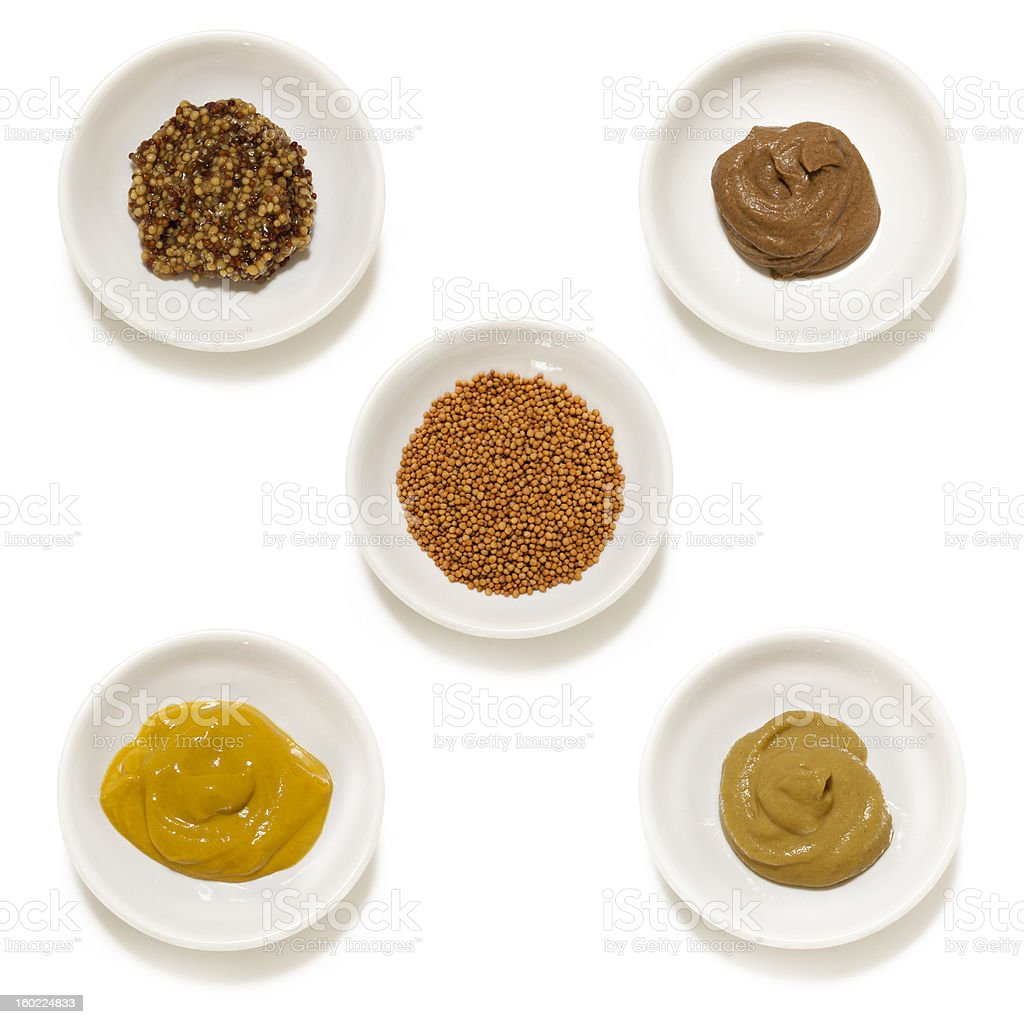 Mustards Collection Isolated stock photo