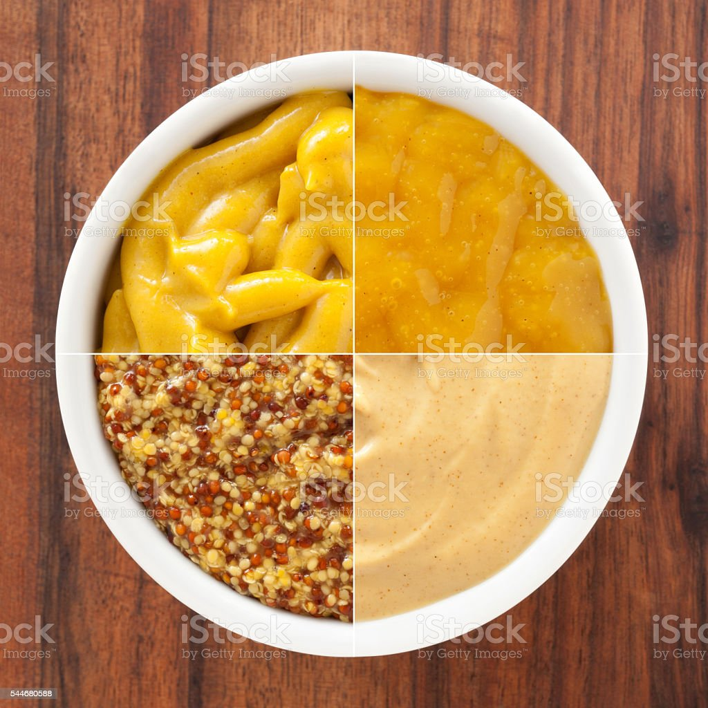 Mustards composition stock photo