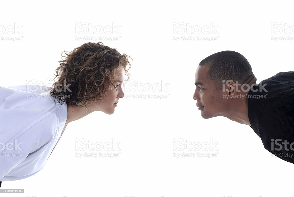 Mutal respect royalty-free stock photo