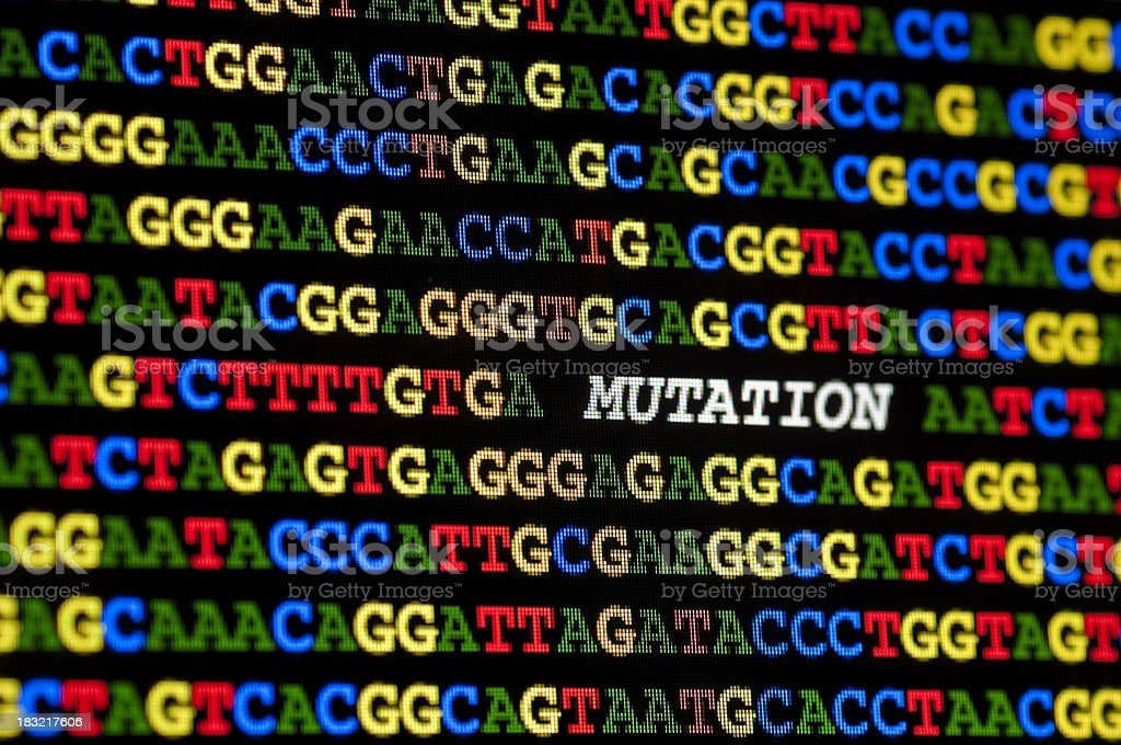 Mutation in DNA sequence stock photo
