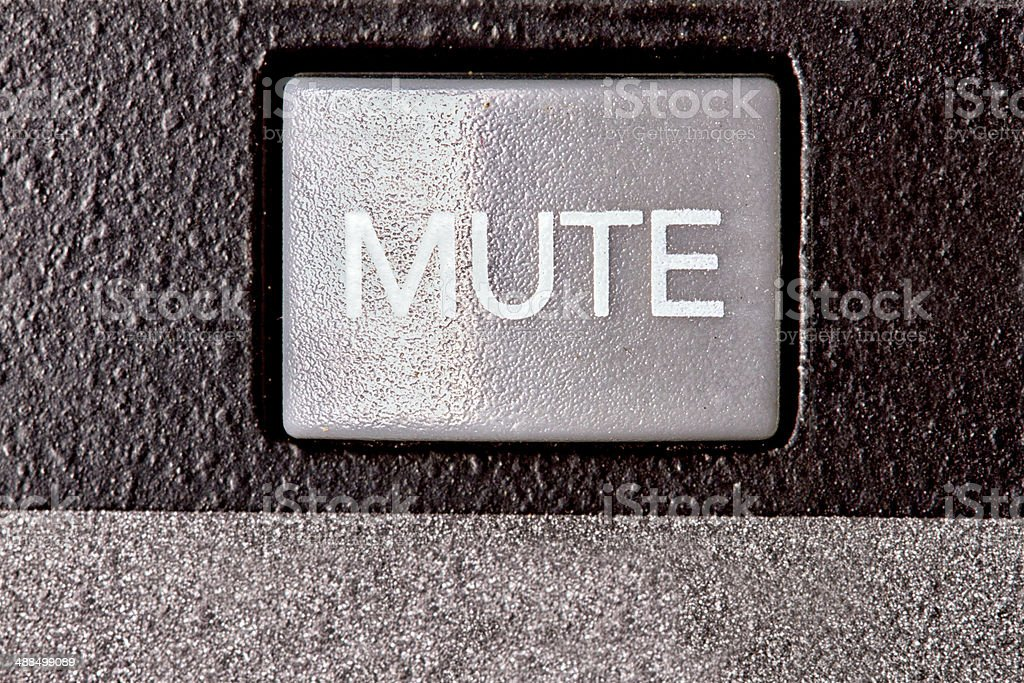 Mute Button royalty-free stock photo