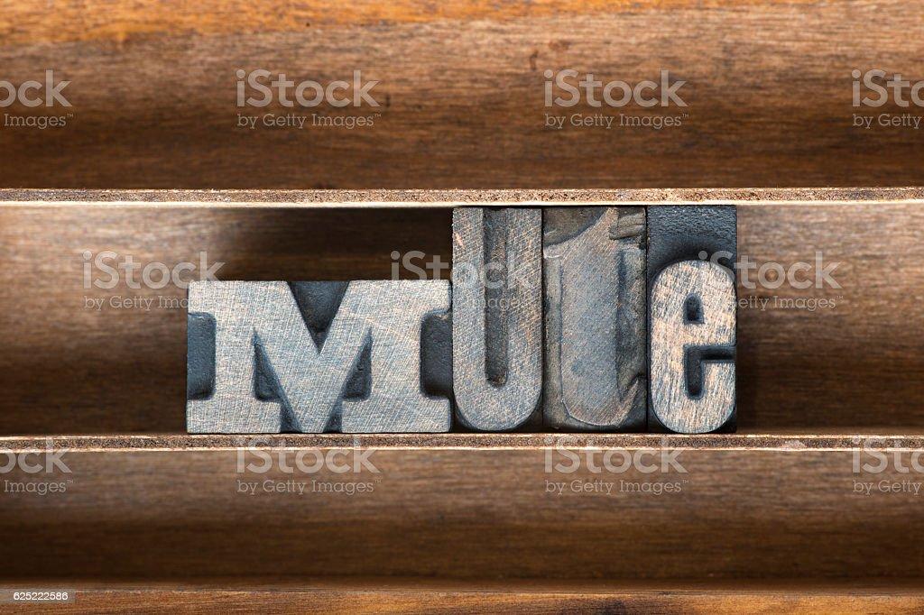 mute wooden tray stock photo