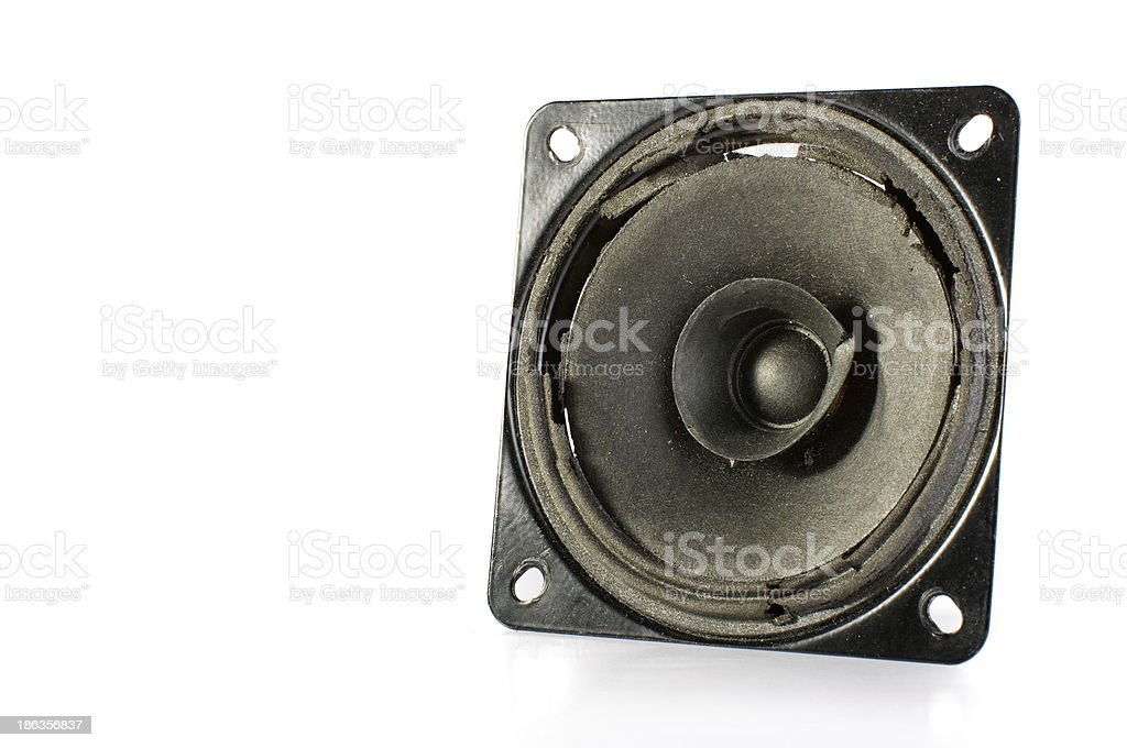 Muted speaker isolated royalty-free stock photo