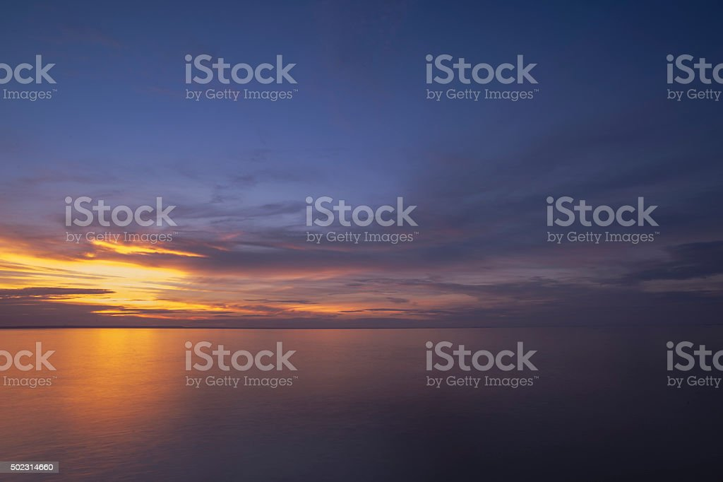 Muted sunset stock photo