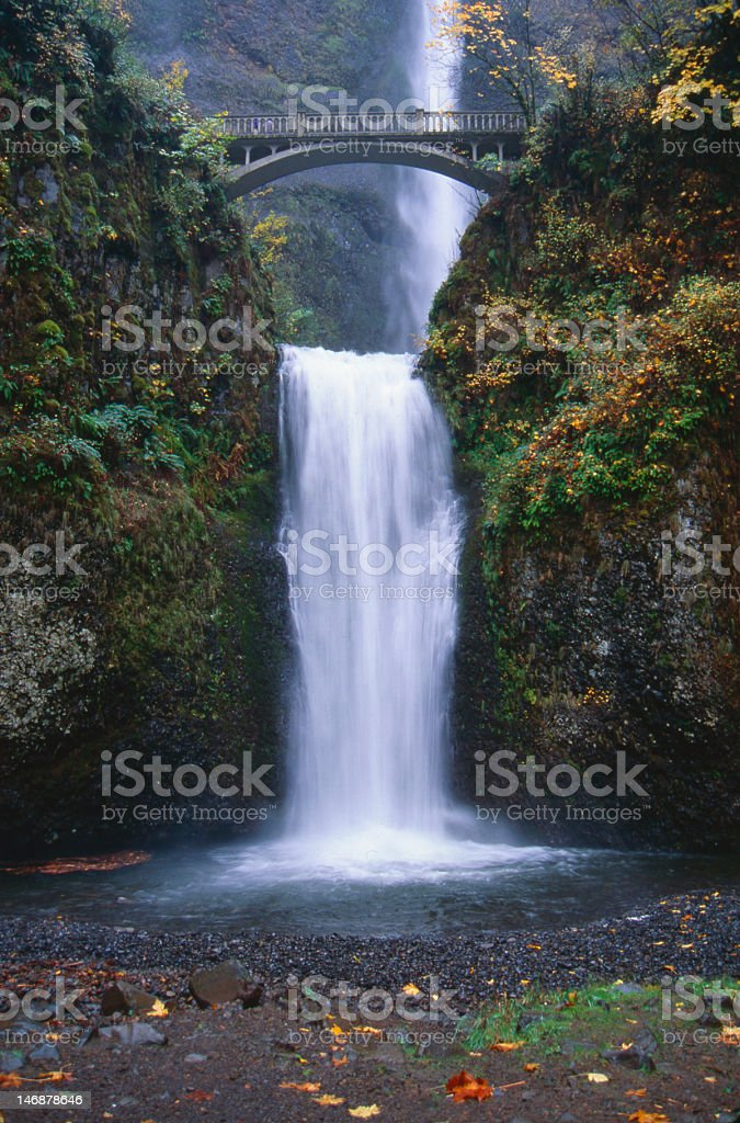 Mutlnomah Falls, Oregon stock photo