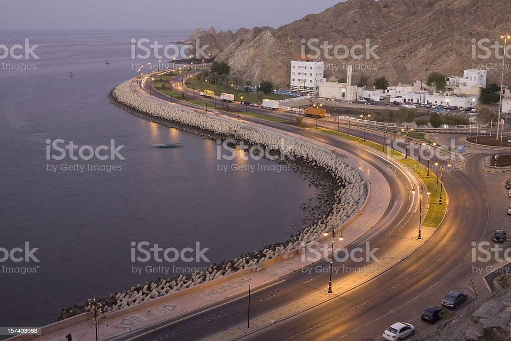 Mutrah at dusk royalty-free stock photo
