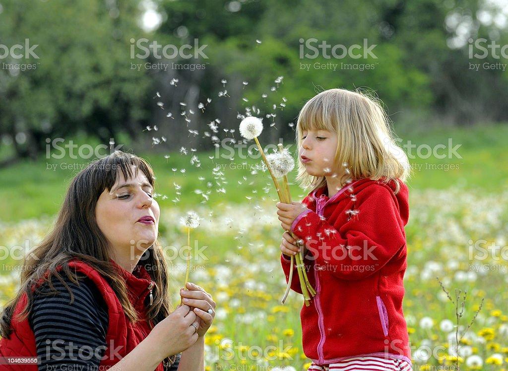 Mutter und Tochter stock photo