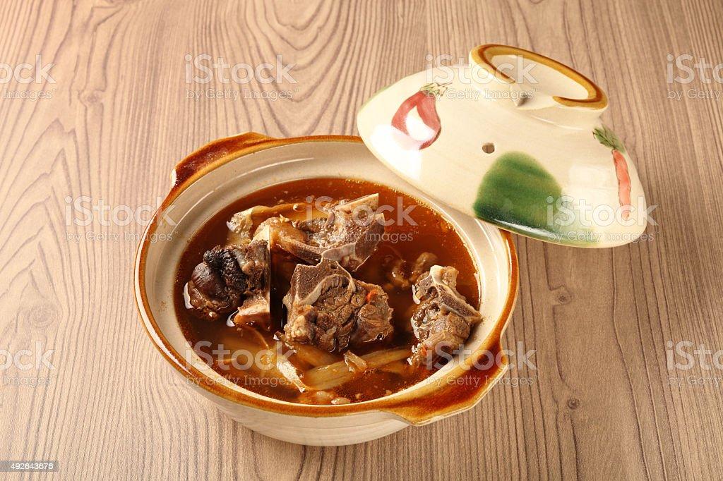 Mutton hot pot stock photo