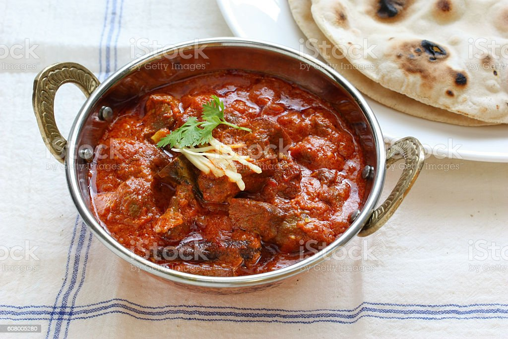 mutton rogan josh, mutton curry, indian cuisine stock photo