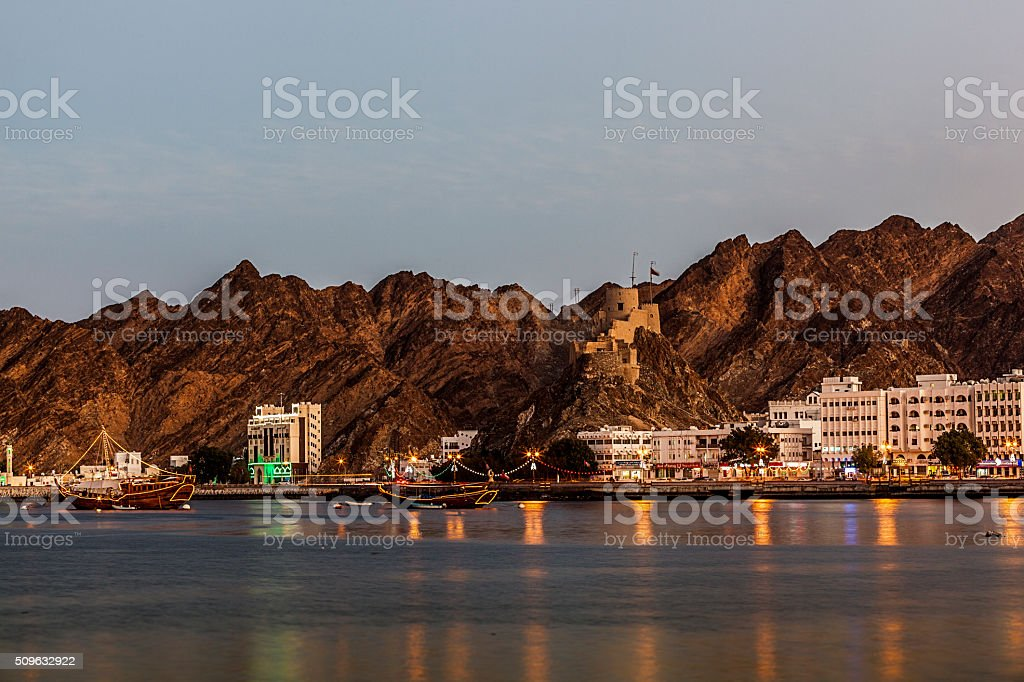 muttrah, muscat, oman stock photo