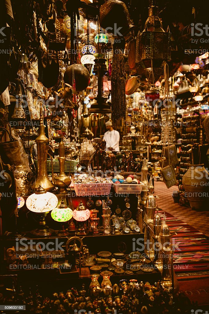 muttrah souk stock photo