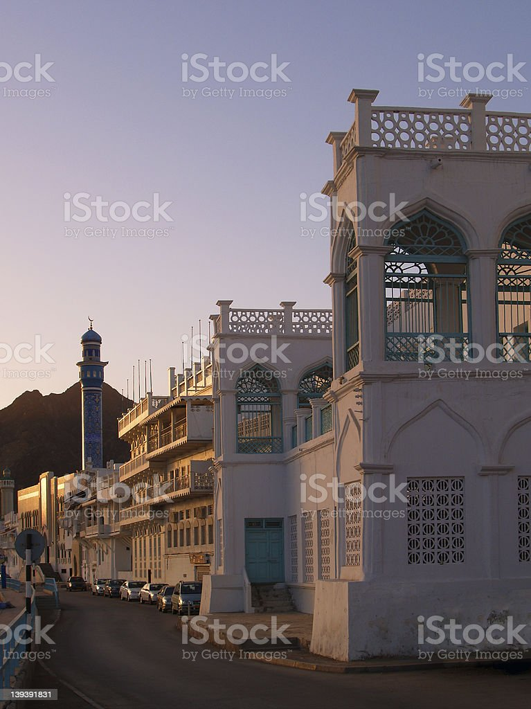 Muttrah Street royalty-free stock photo