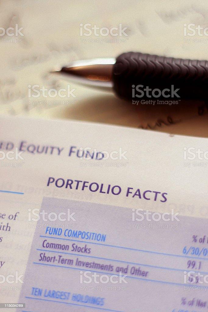 Mutual Fund Annual Report - Portfolio Composition stock photo