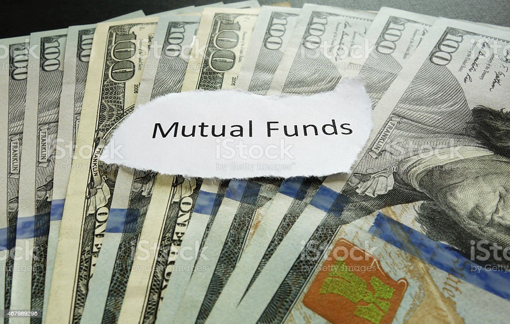 Mutual fund note stock photo