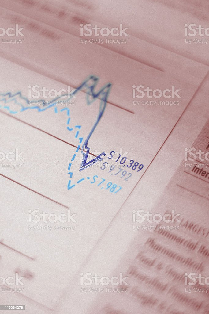Mutual Fund Performance Chart - Benchmark Data royalty-free stock photo