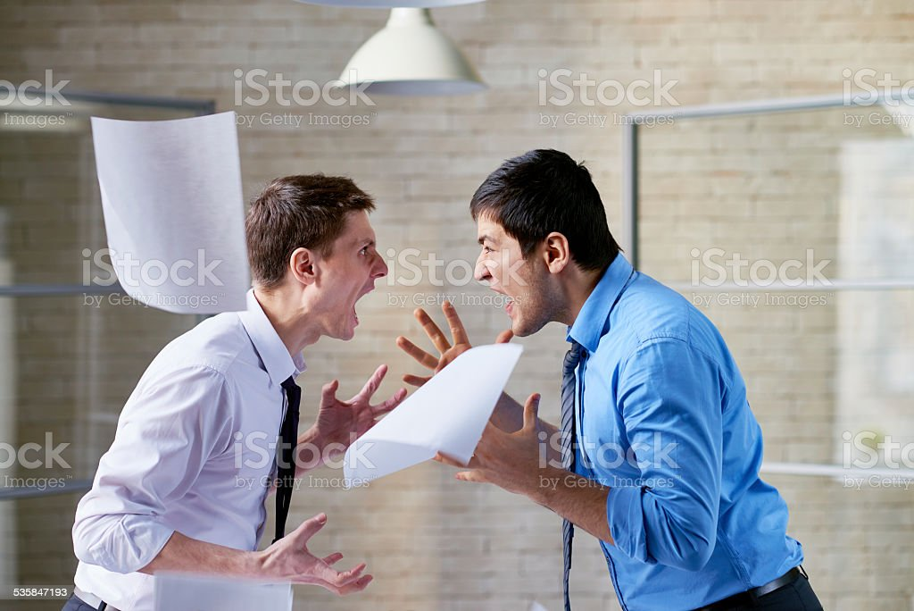 Mutual hatred stock photo