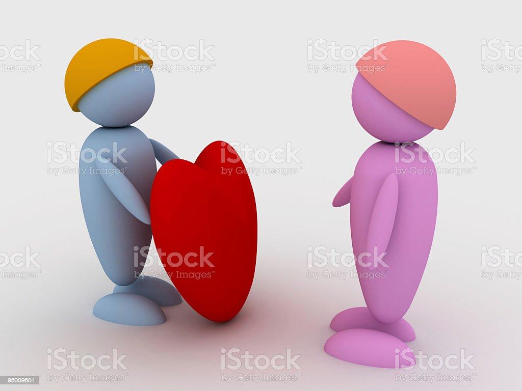 Mutual love royalty-free stock photo