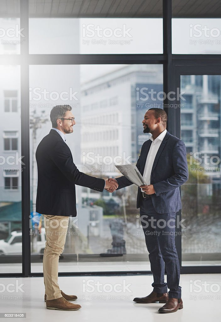 Mutual respect goes a long way in business stock photo