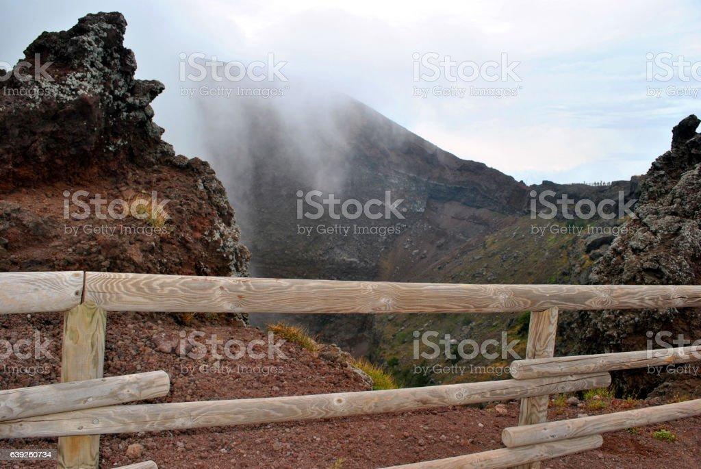 Muzzle of a volcano of Vesuvius. stock photo