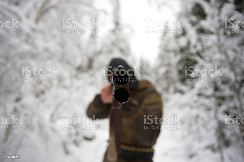 Muzzle of Hunter Rifle stock photo