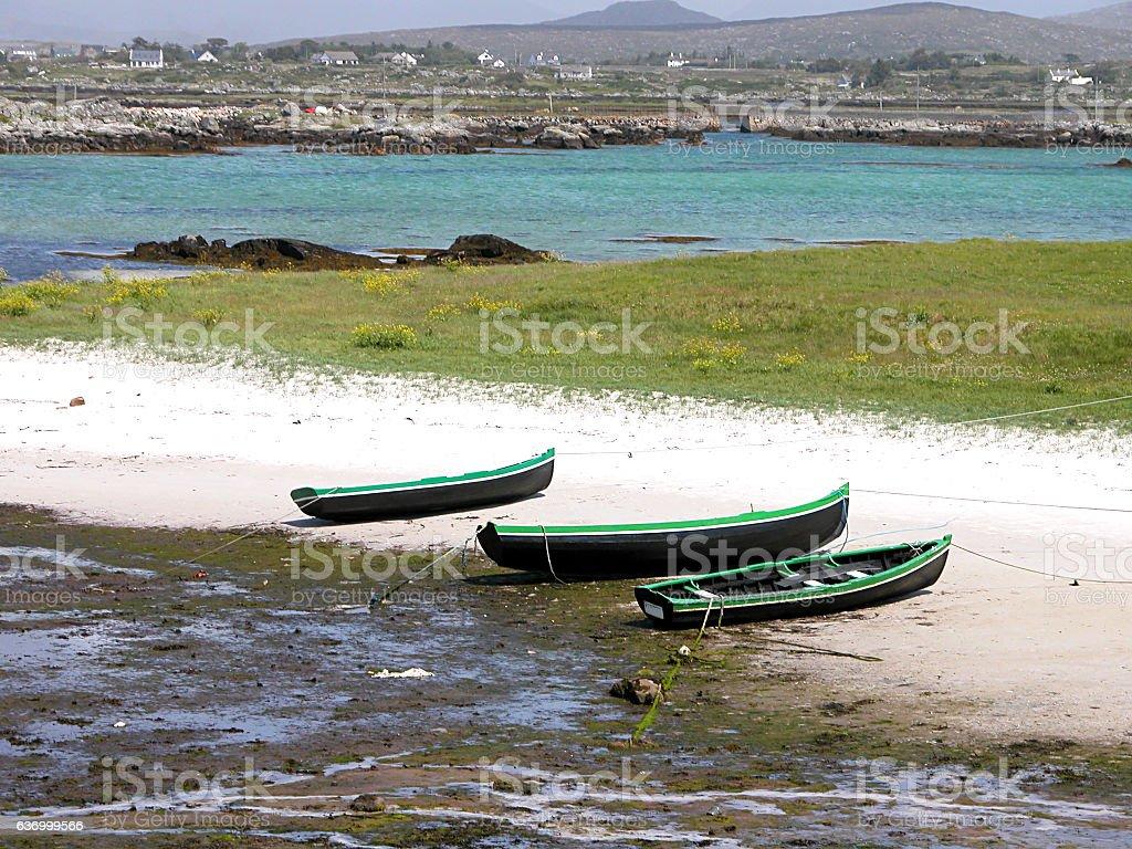 Mweenish Island Boats stock photo