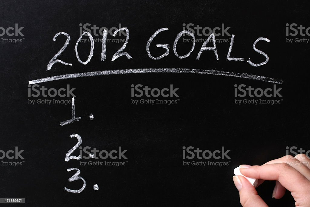 My 2012 Goals Chalk Text on Blackboard royalty-free stock photo