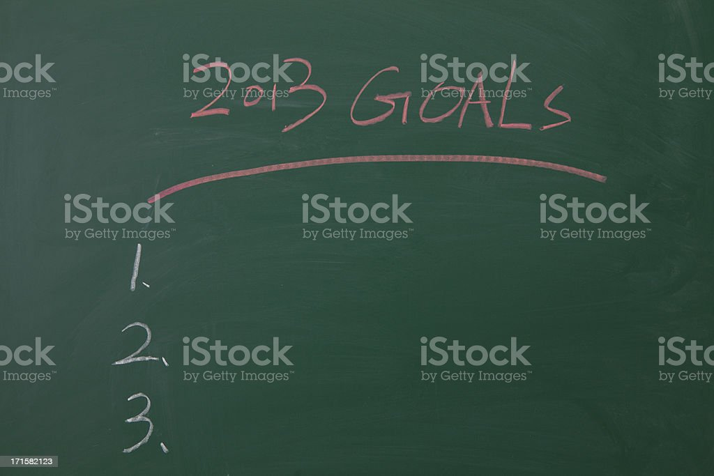 My 2013 Goals Chalk Text on Blackboard royalty-free stock photo