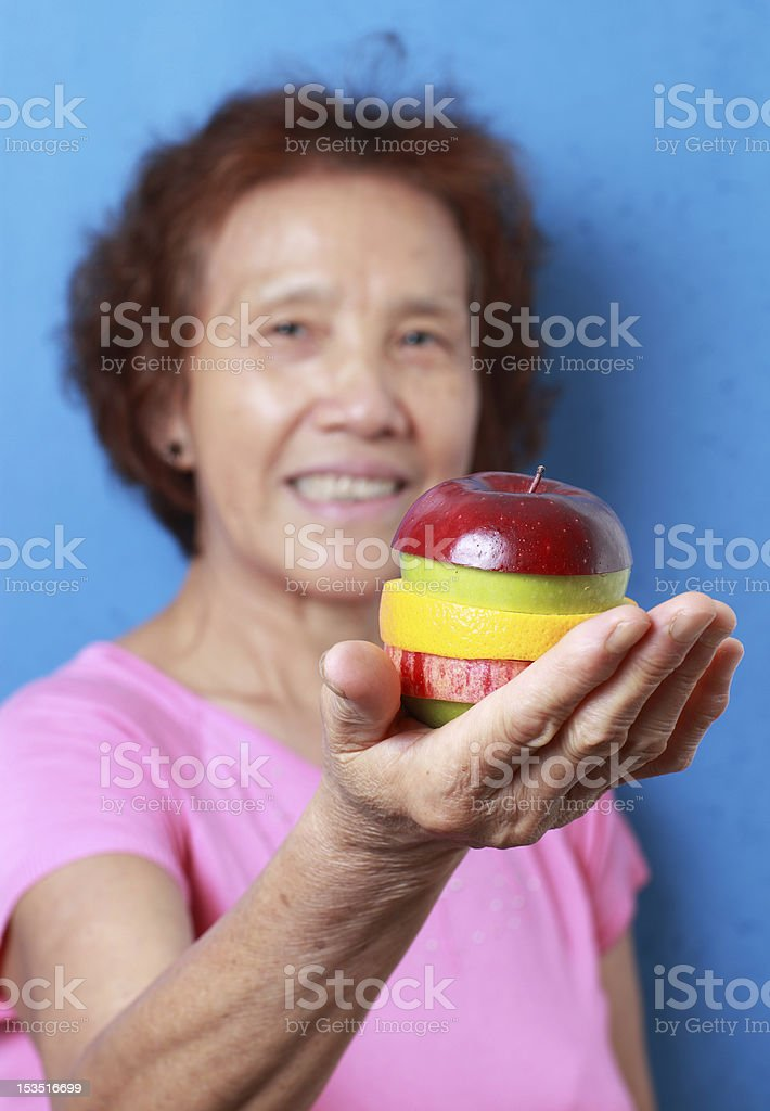 my aunt royalty-free stock photo