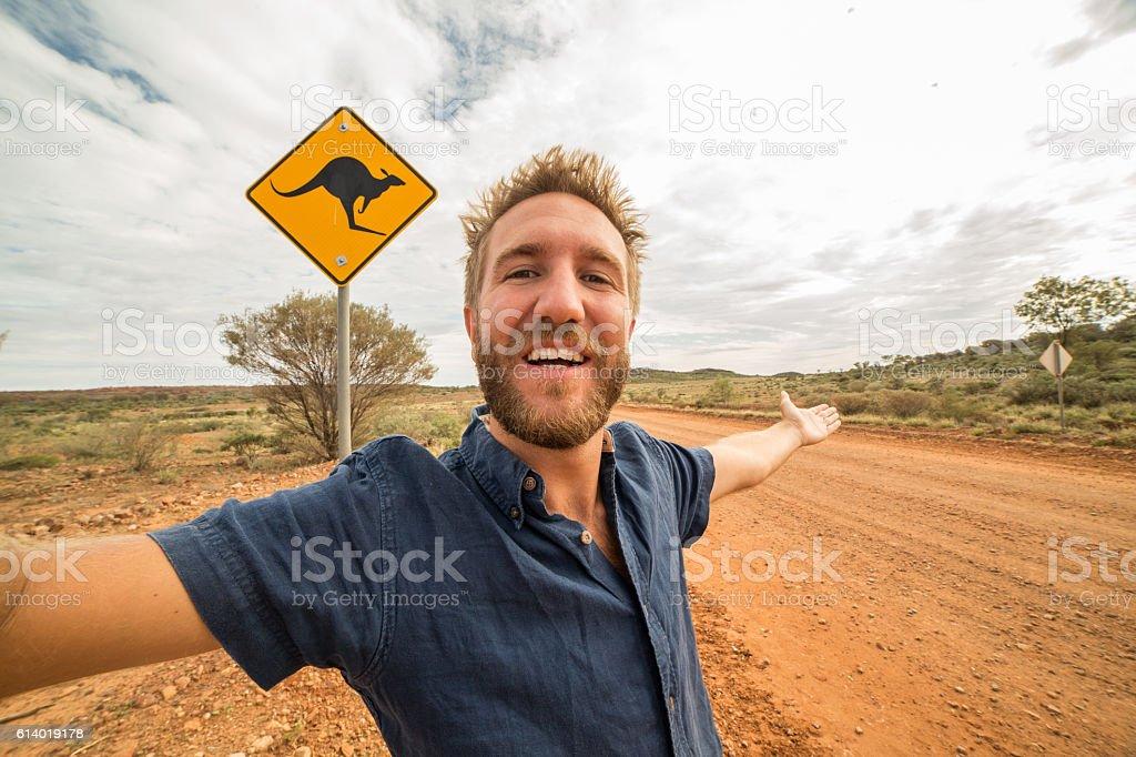 My Australian selfie stock photo