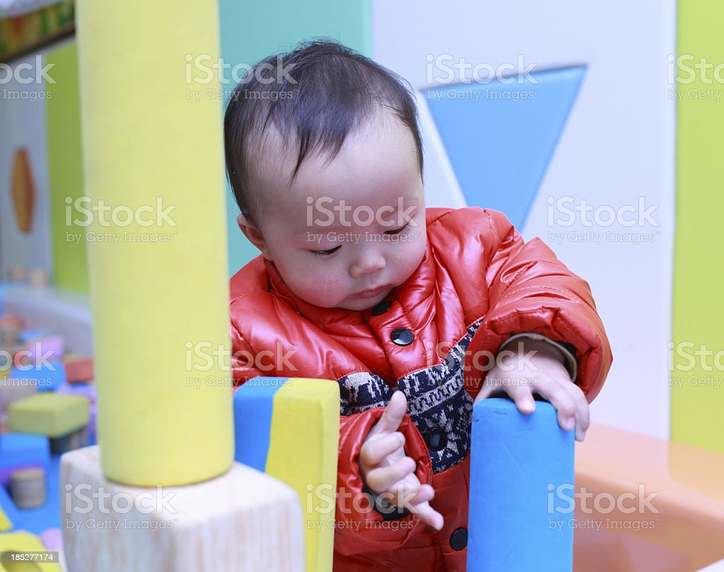 My baby playing in the playground royalty-free stock photo
