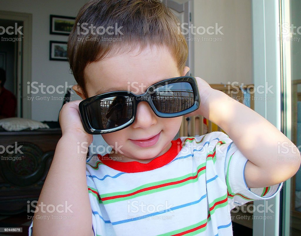 My baby with....  sunglasses royalty-free stock photo