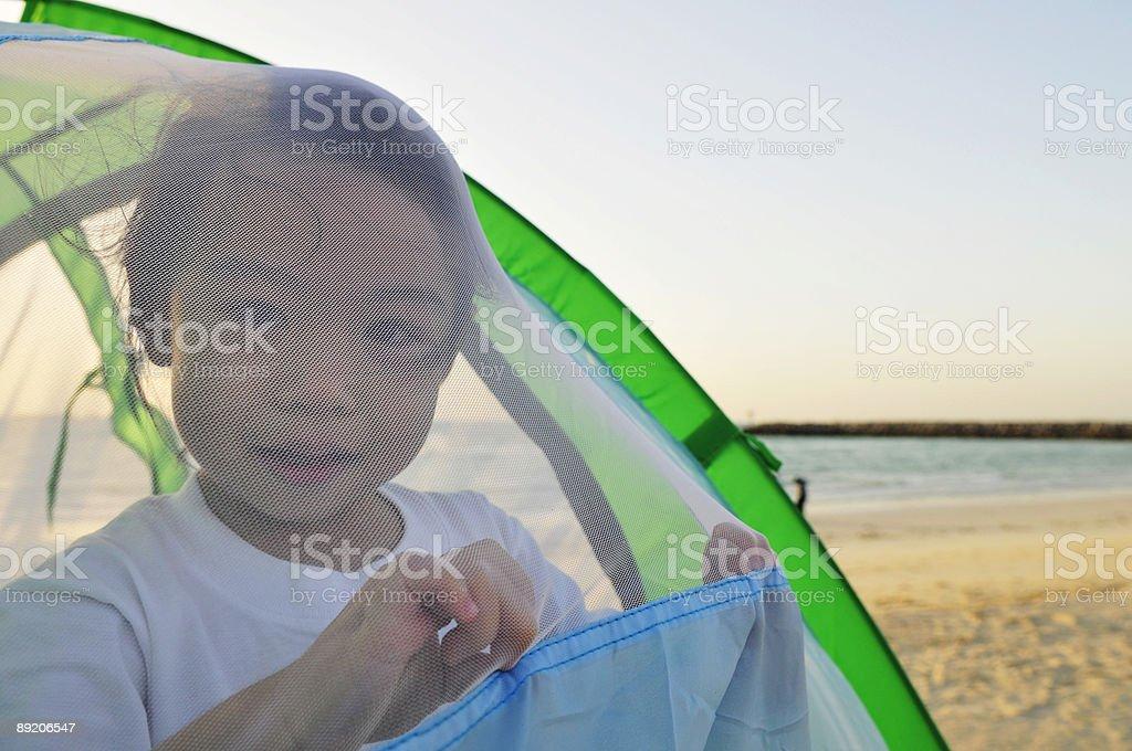 My Beach net stock photo