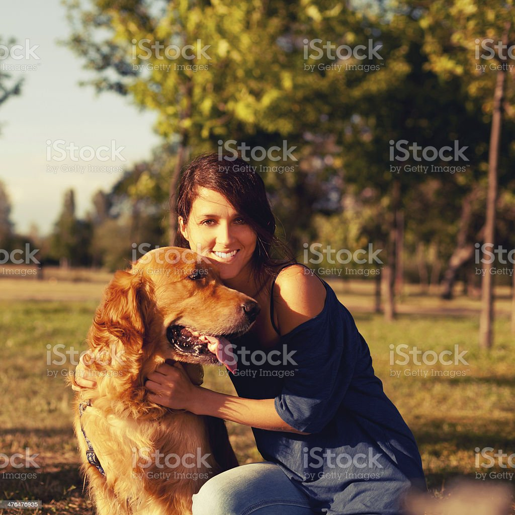 My best friend royalty-free stock photo