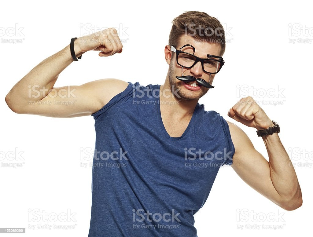 My biceps! royalty-free stock photo