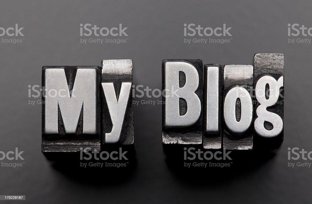 My Blog - Letterpress letter royalty-free stock photo