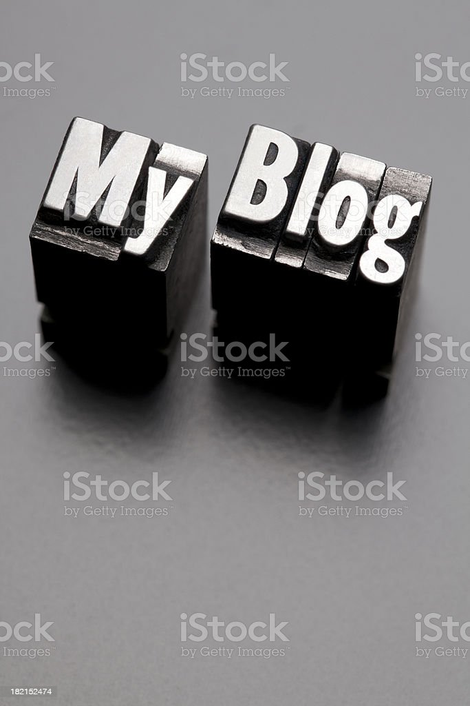My Blog - Metal Letterpress Letters royalty-free stock photo