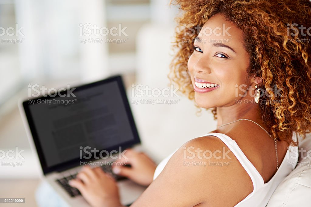 My blog's looking great! stock photo