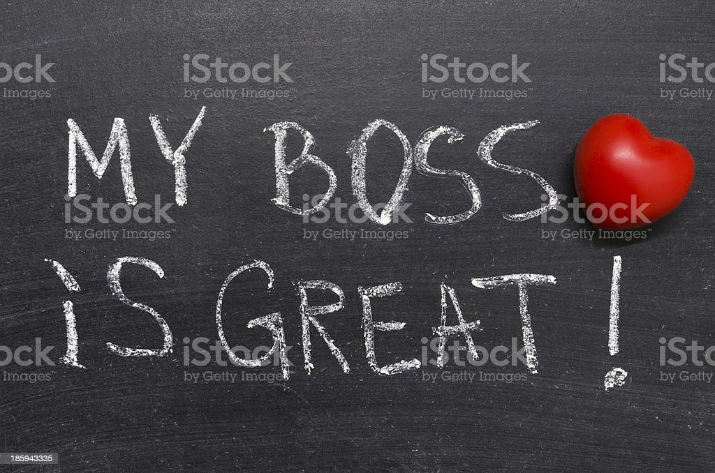 my boss is great royalty-free stock photo